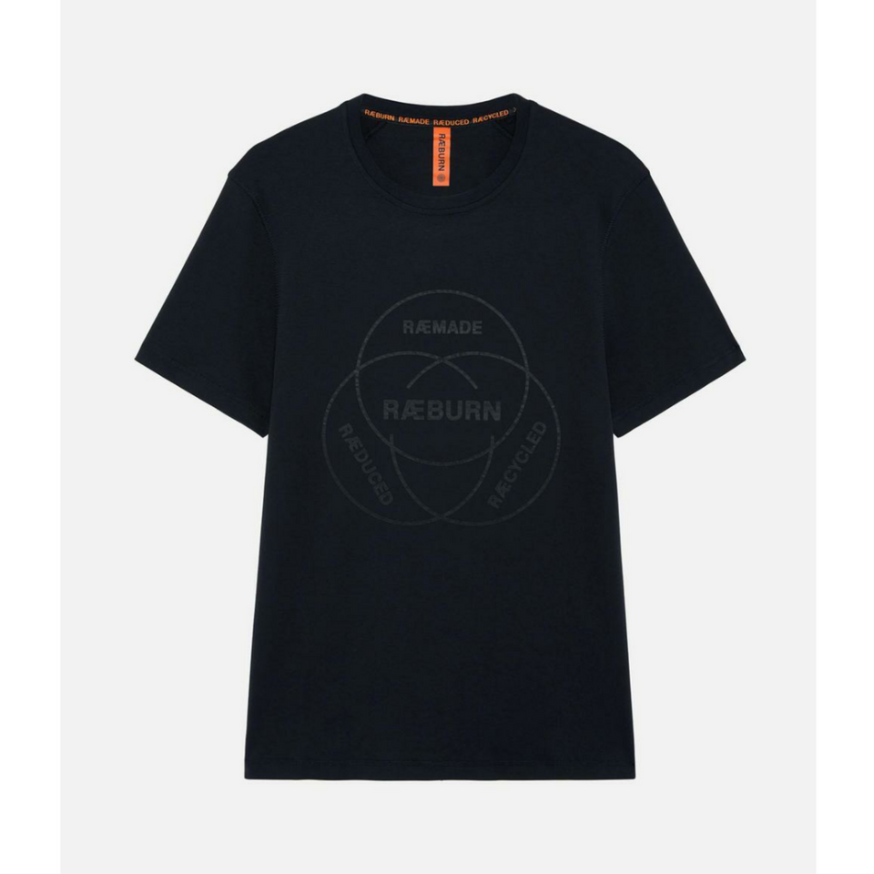 Raeburn Venn Graphic T-Shirt - Black