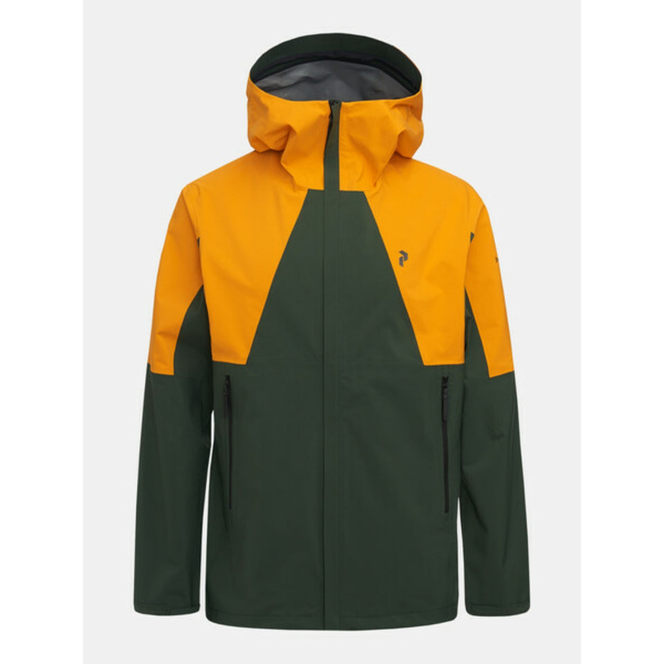 Peak Performance Daybreaker Tech Jacket - Green/Yellow