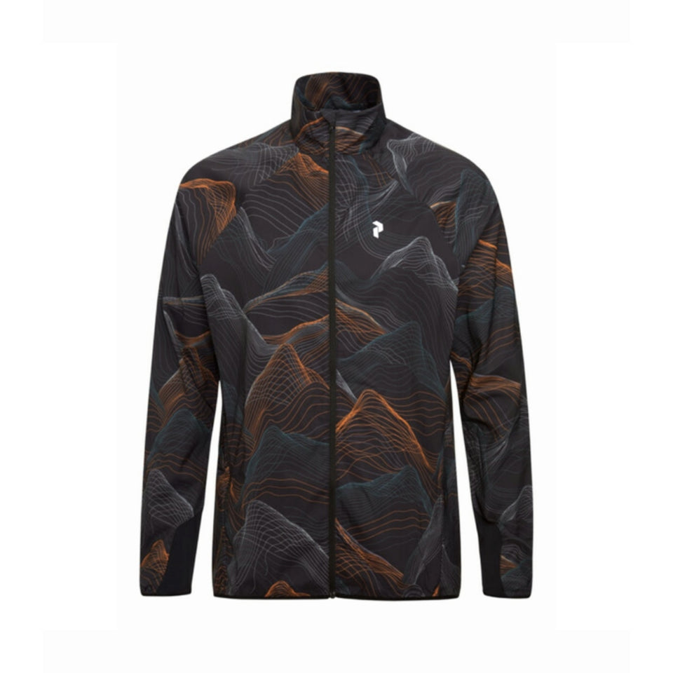 Peak Performance Fremont Printed Lightweight Jacket - Black/Orange