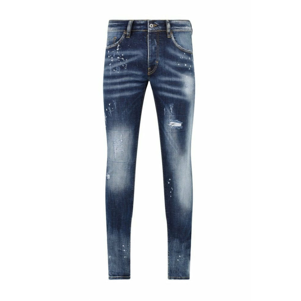 7th HVN Ripped And Repaired Slim Jeans - Washed Blue