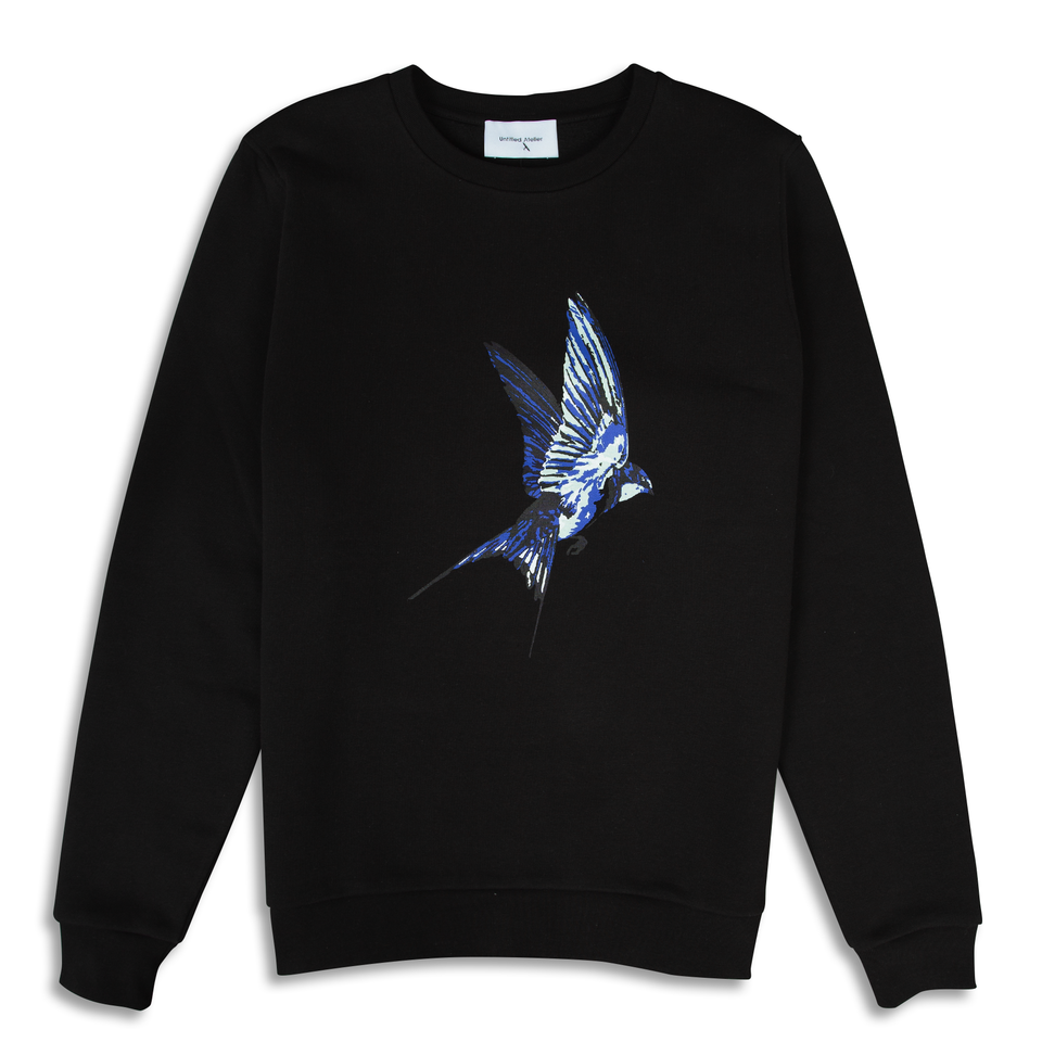 Untitled Atelier Swallow Printed Sweatshirt - Black