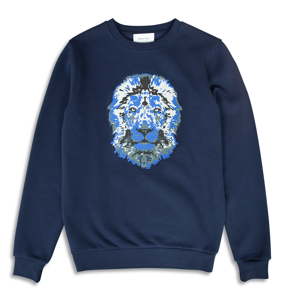 Untitled Atelier Lion Printed Sweatshirt - Navy