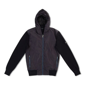 Z Zegna Polyester/Wool Hooded Jacket - Navy Blue