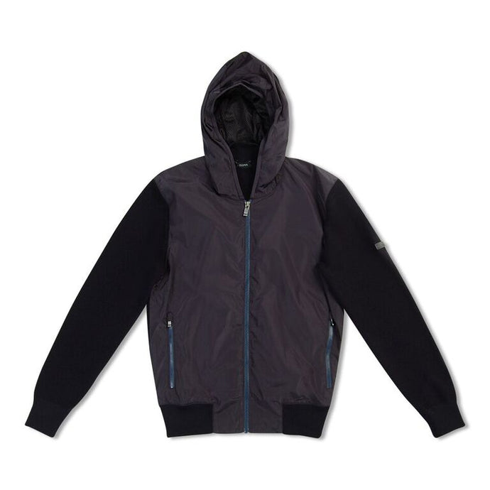Navy Blue Zegna Polyester/wool Hooded Jacket