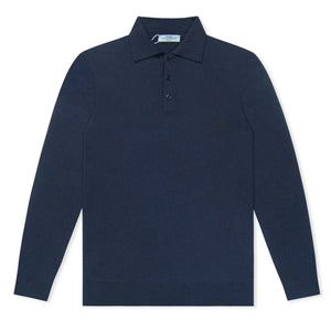 Untitled Atelier LS Knitted Polo - Navy