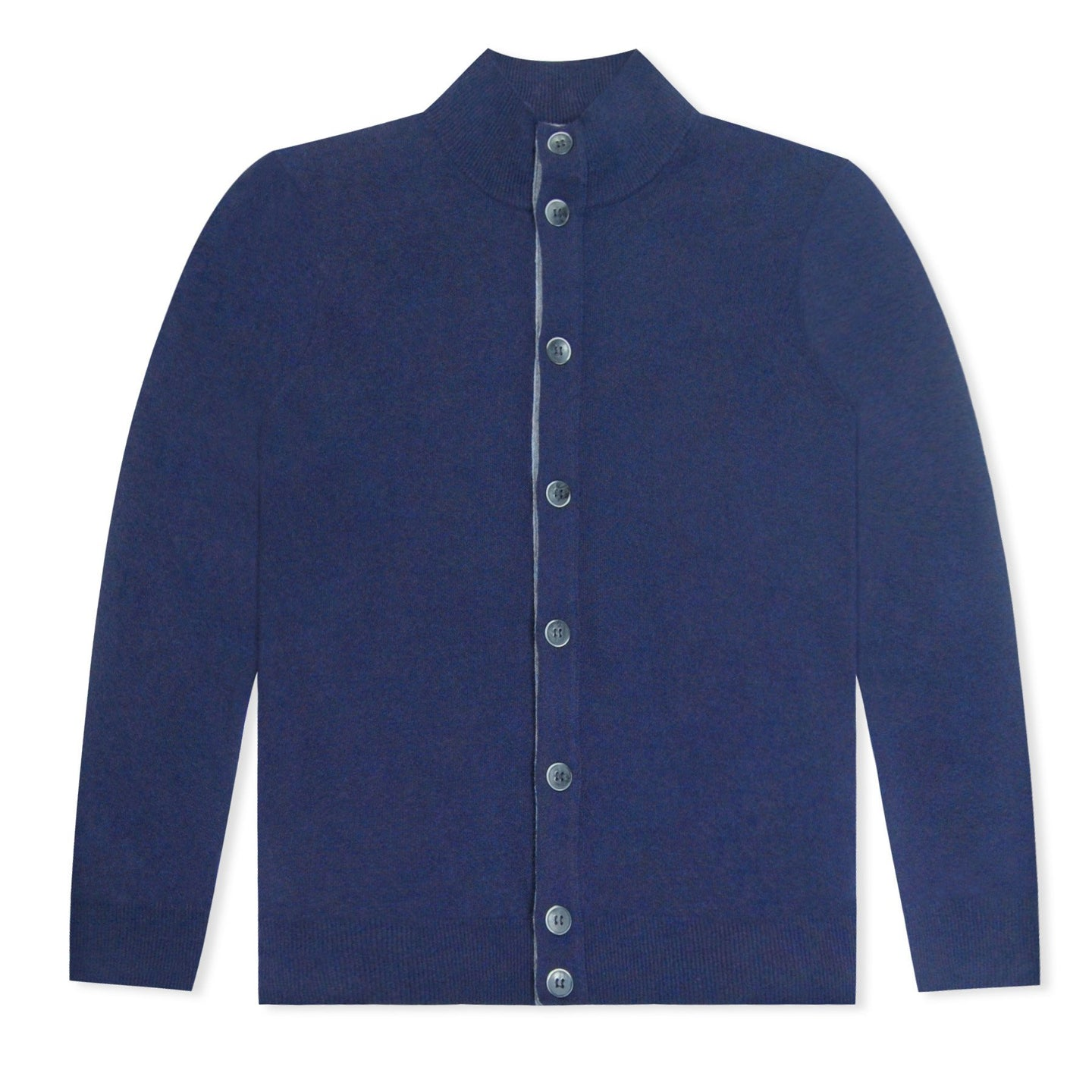 Untitled Atelier Merino Button Through Cardigan - Navy