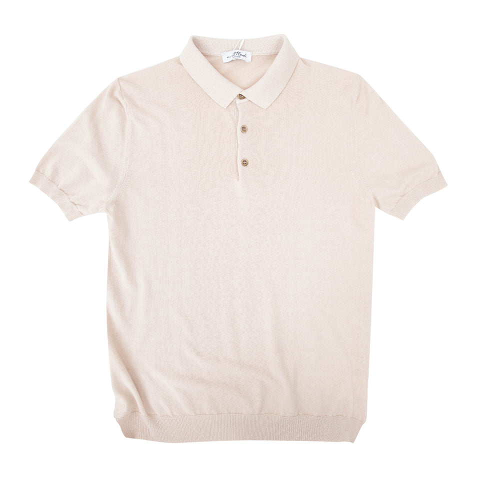 Untitled Atelier SS Knitted Polo - Sand