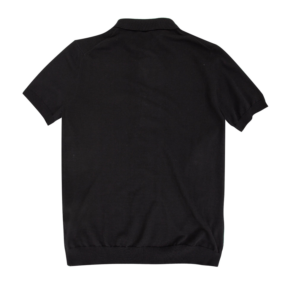 Untitled Atelier SS Knitted Polo - Black