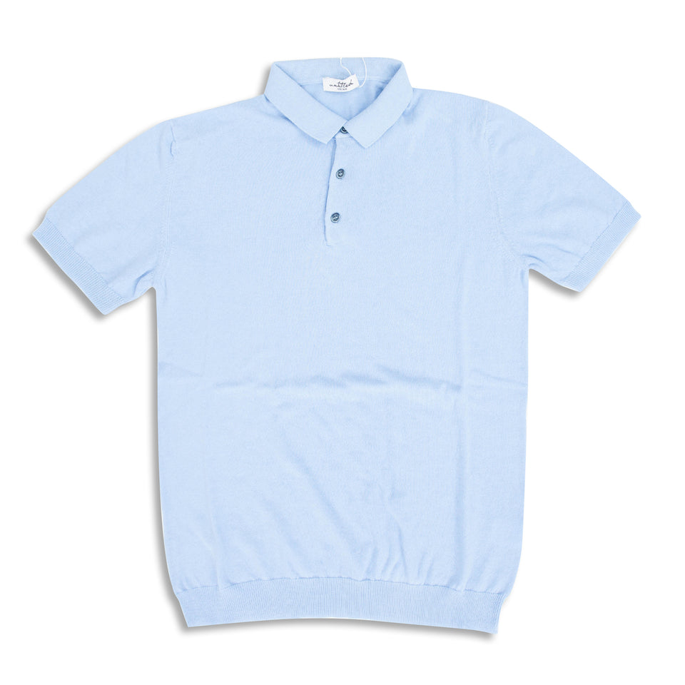 Untitled Atelier SS Knitted Polo - Light Blue