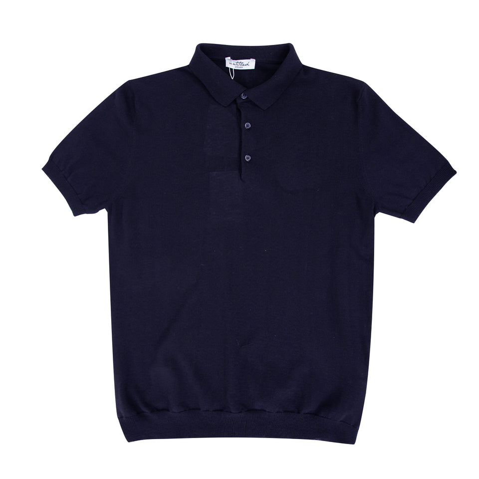 Untitled Atelier SS Knitted Polo - Navy