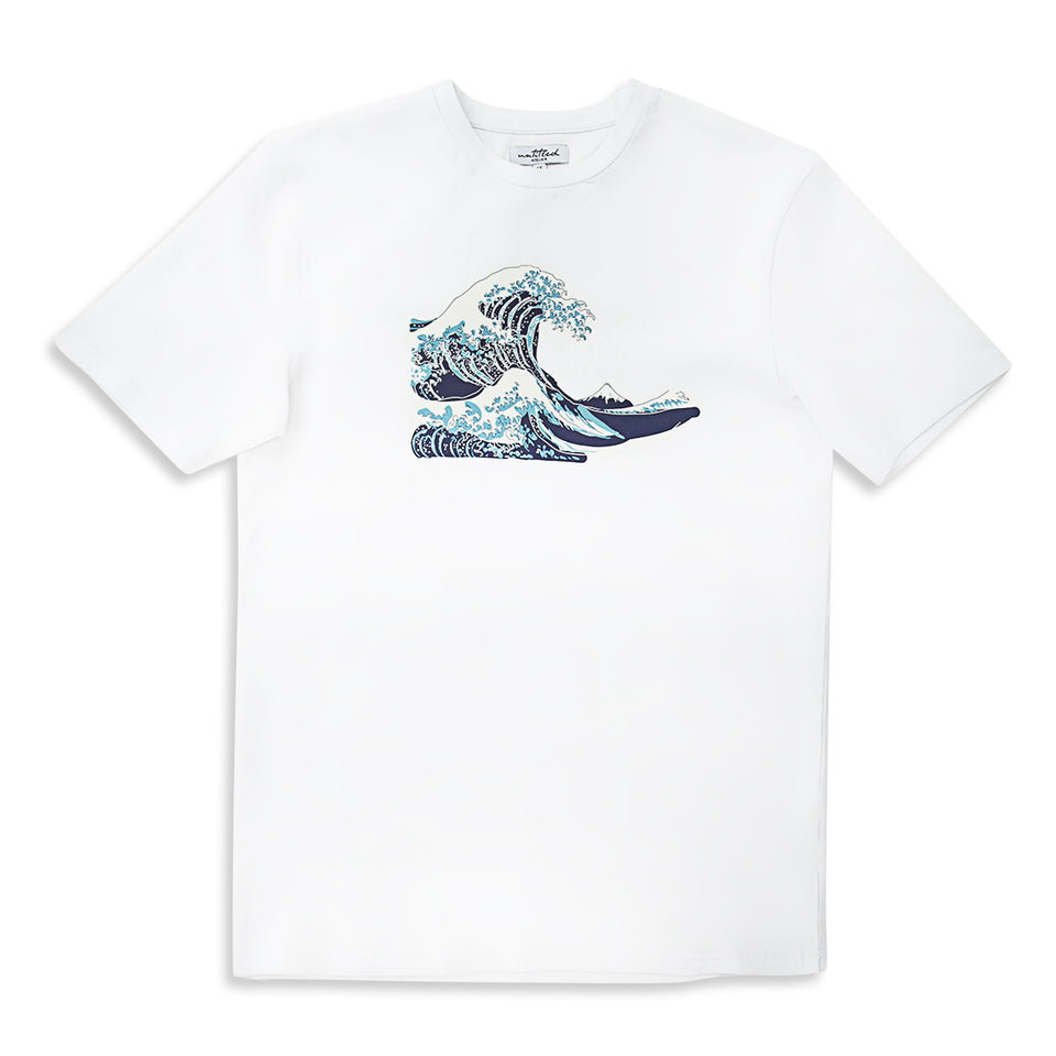 Untitled Atelier Abstract Wave T-Shirt - White