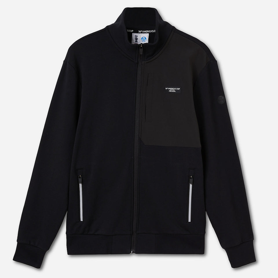 Prada x North Sails Muriwai Full Zip Sweat Black