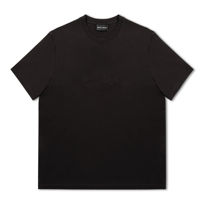 Emporio Armani Embroidery T-Shirt - Black