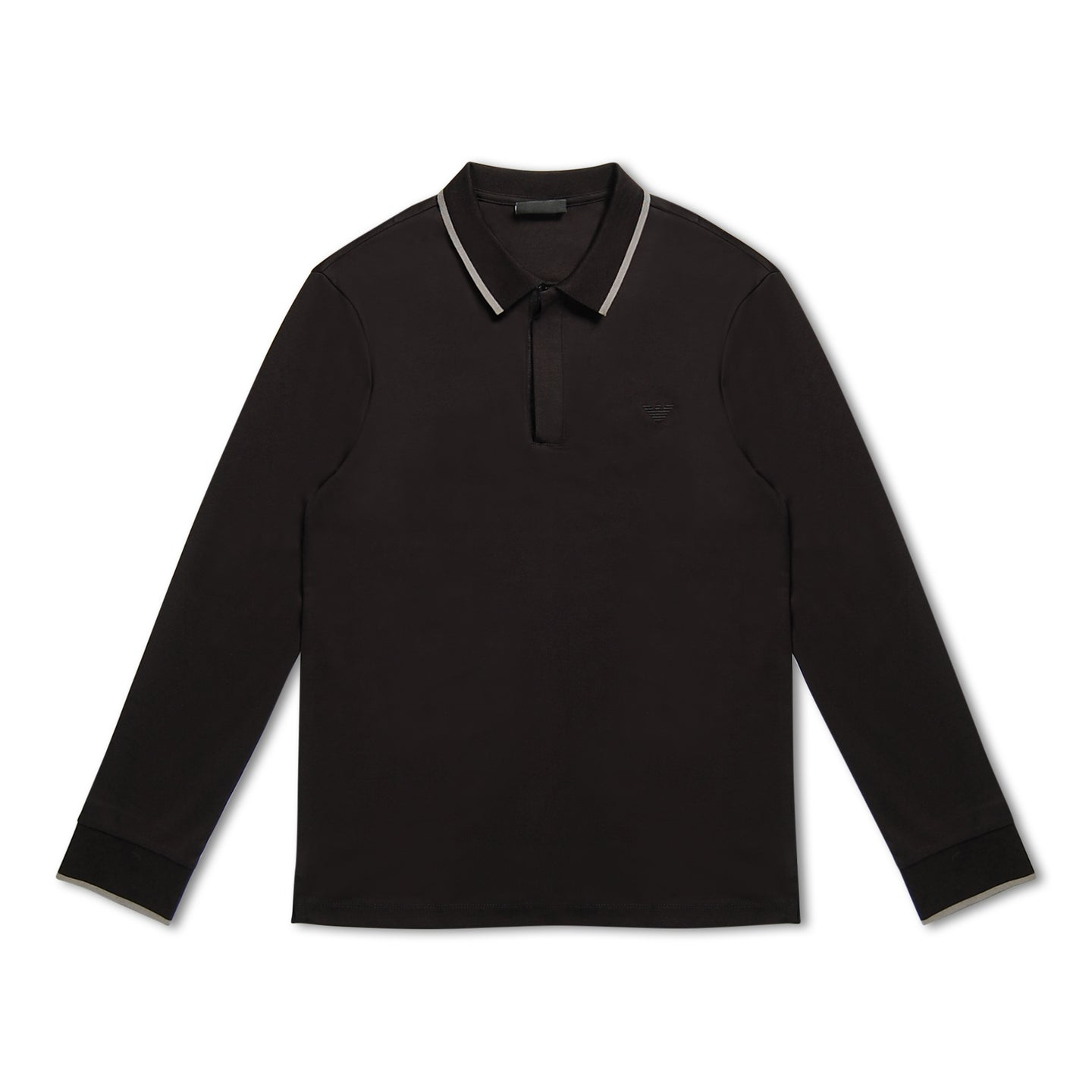 Emporio Armani Jersey Long Sleeve Polo - Black