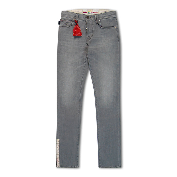Light Grey Leonardo 18 Moon Slim Jeans