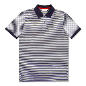 Navy Calvin Klein Striped Cotton Polo