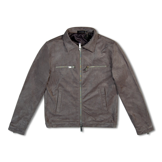 Grey Azat Mard Suede Smart Jacket