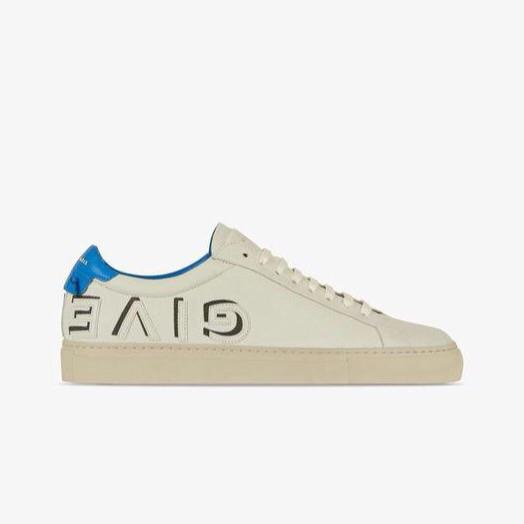 White/Blue Givenchy Urban Street Logo Trainers