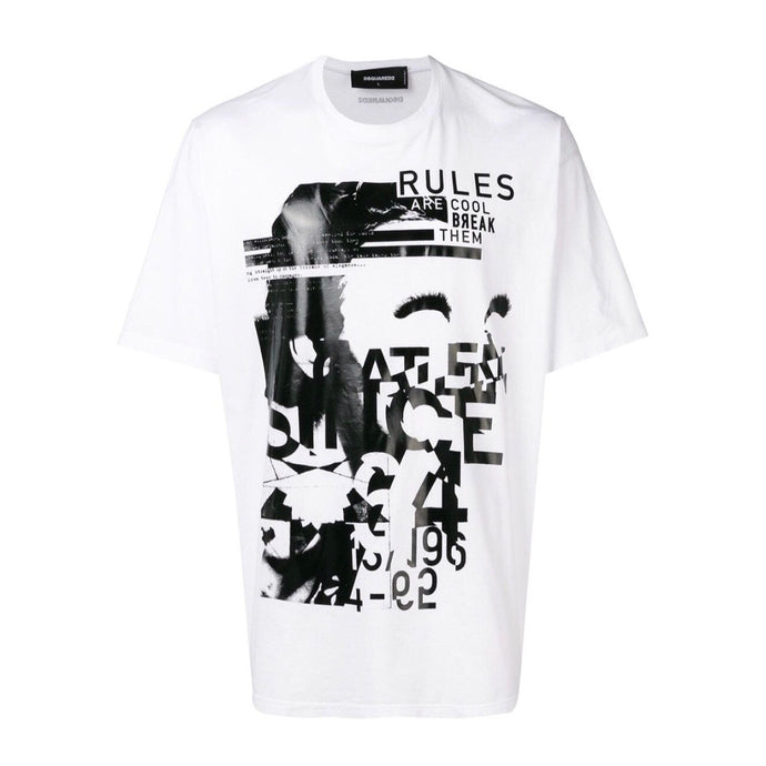Dsquared2 Rules Print T-Shirt - White
