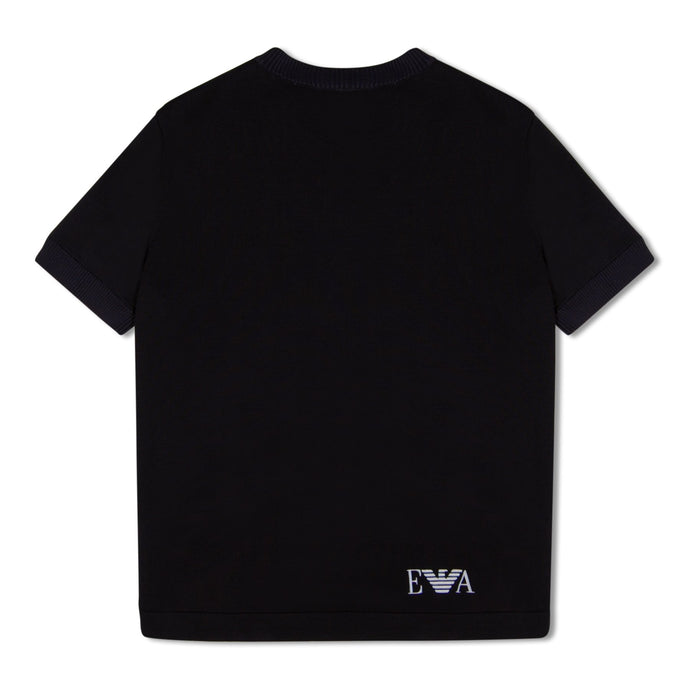 Navy Emporio Armani Knitted T-Shirt