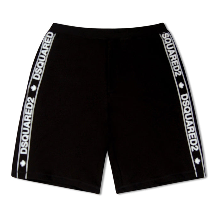 Black Dsquared2 Side Stripe Shorts