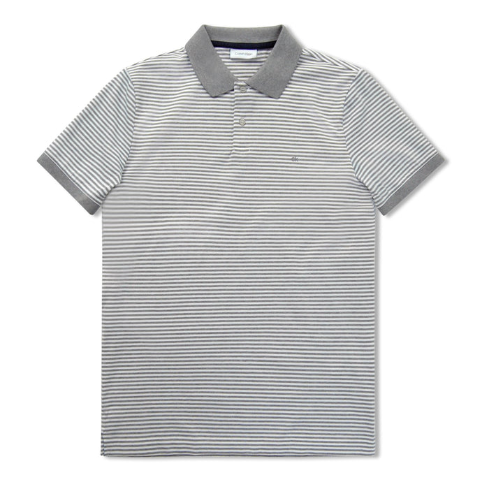 Calvin Klein Grey/White Stripe Polo