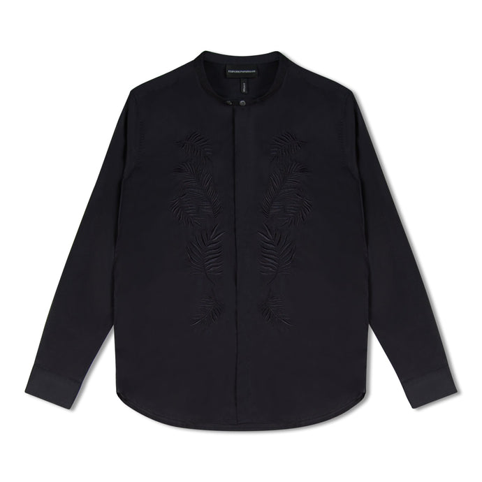 Navy Emporio Armani Embroidered Shirt