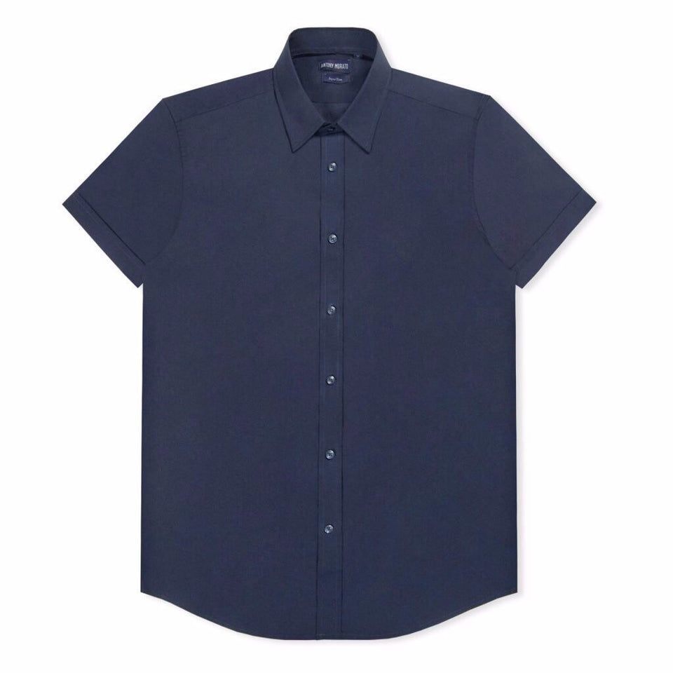Antony Morato Super Slim SS Shirt - Navy