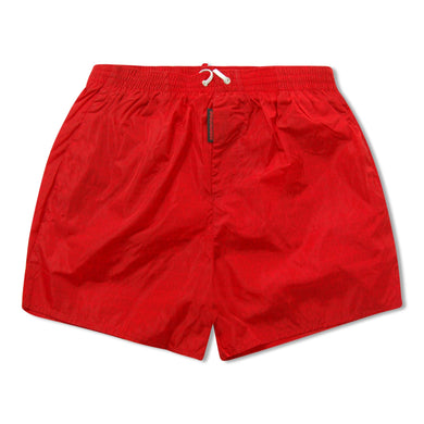 Red Dsquared2 Basics Logo Swim Shorts