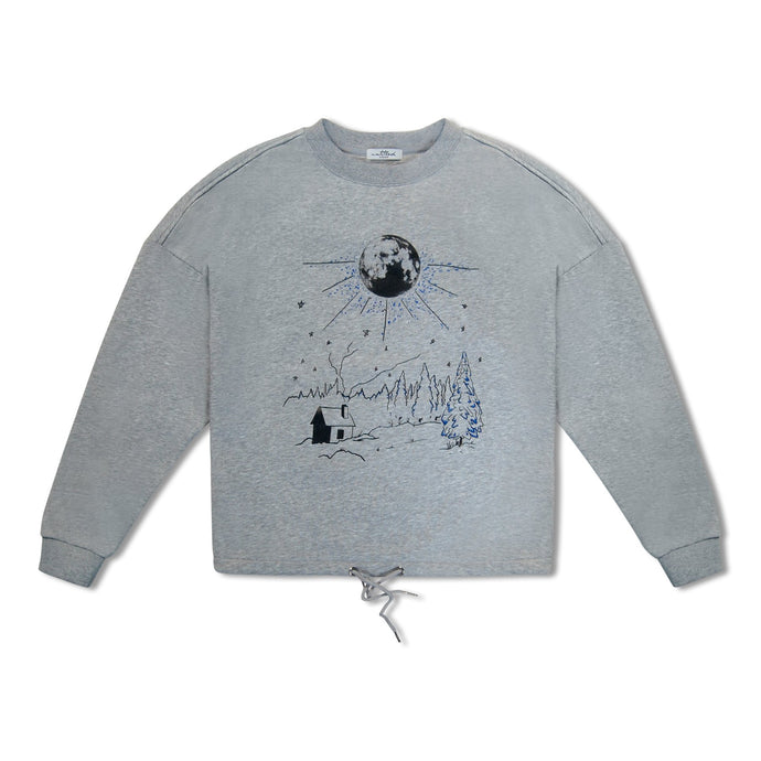 WMN Grey Untitled Atelier Night Sky Draw String Sweatshirt
