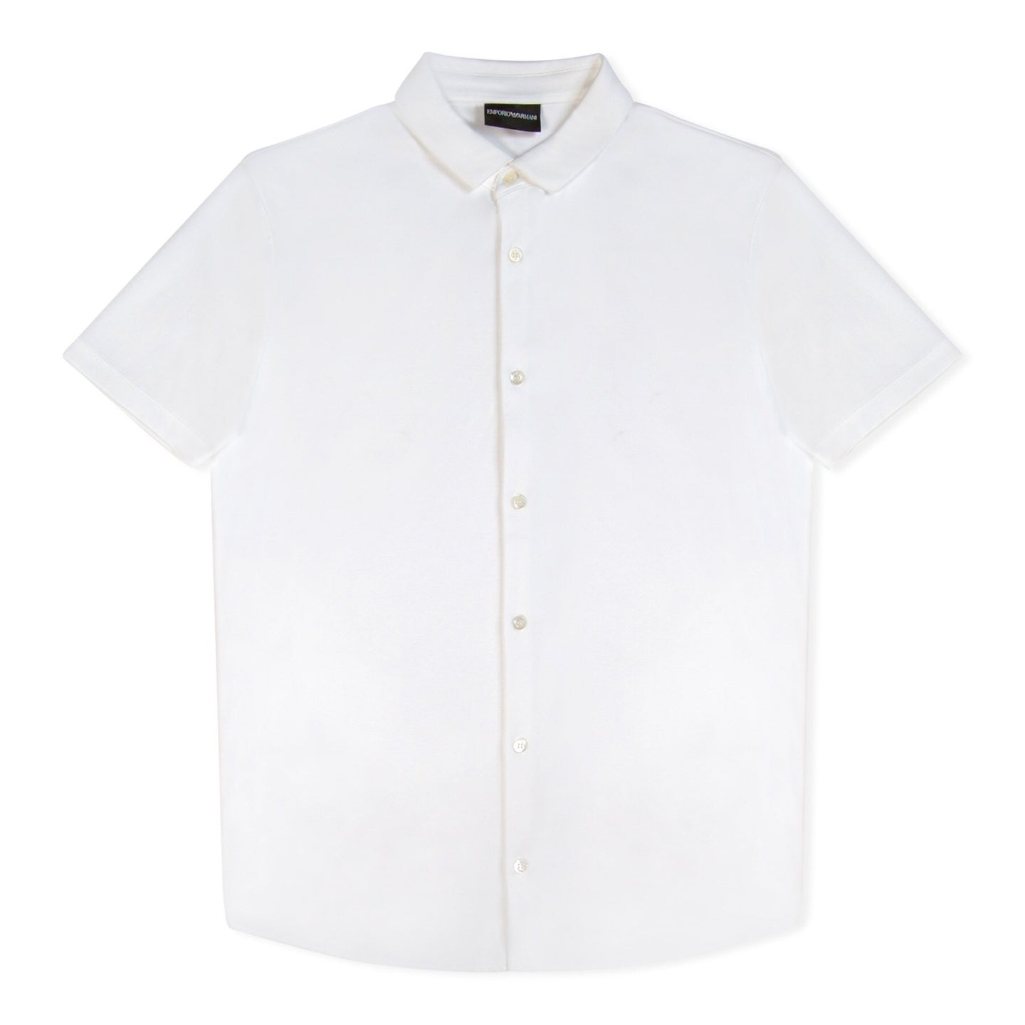 White Armani Short Sleeve Jersey Shirt