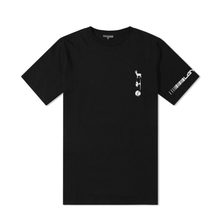 Lanvin Ski Logo Prints T-Shirt Black