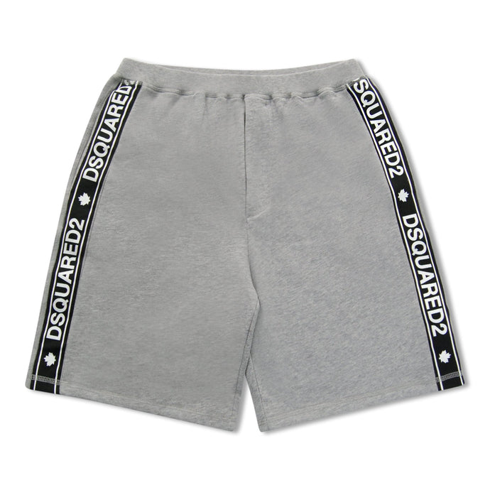 Grey Dsquared2 Side Stripe Sweat Shorts
