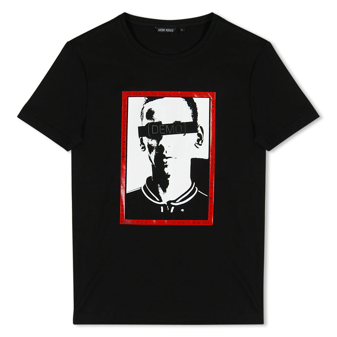 Black Antony Morato Box Print T-Shirt