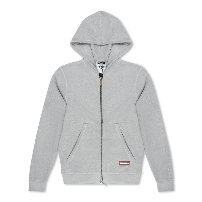 Dsquared2 Zip Through Hoodie - Grey