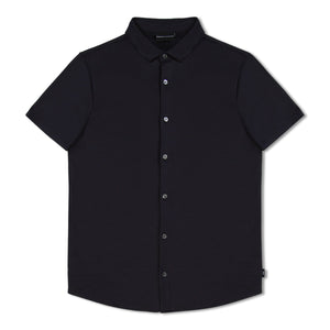 Navy Blue Emporio Armani Short Sleeve Jersey Shirt