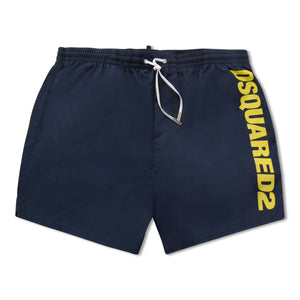Dsquared2 Swim Shorts - Navy/Yellow