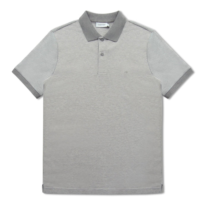 Grey Calvin Klein Liquid Touch Stripe Polo