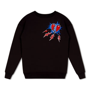 WMN Black Untitled Atelier Broken Heart Sweat Shirt