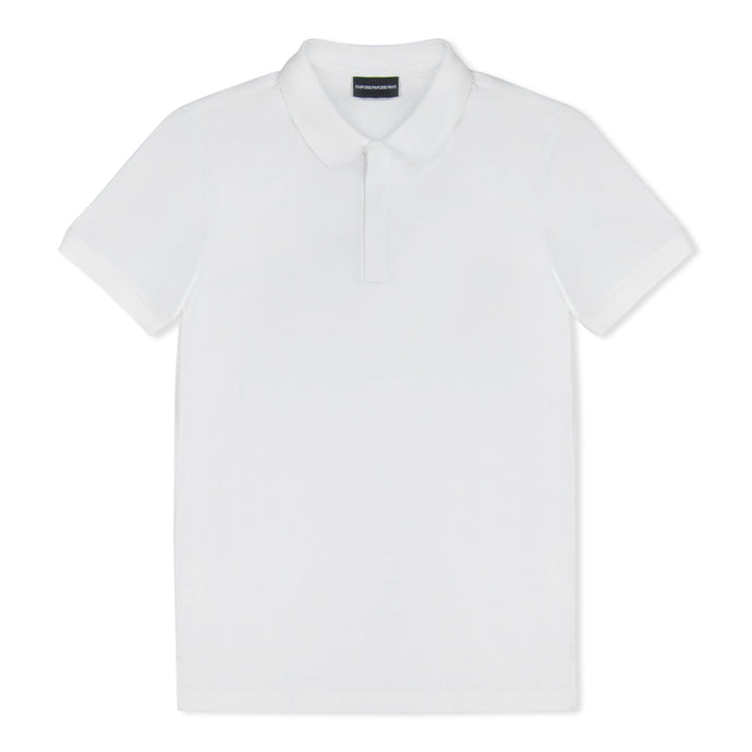 White Emporio Armani Zip Polo