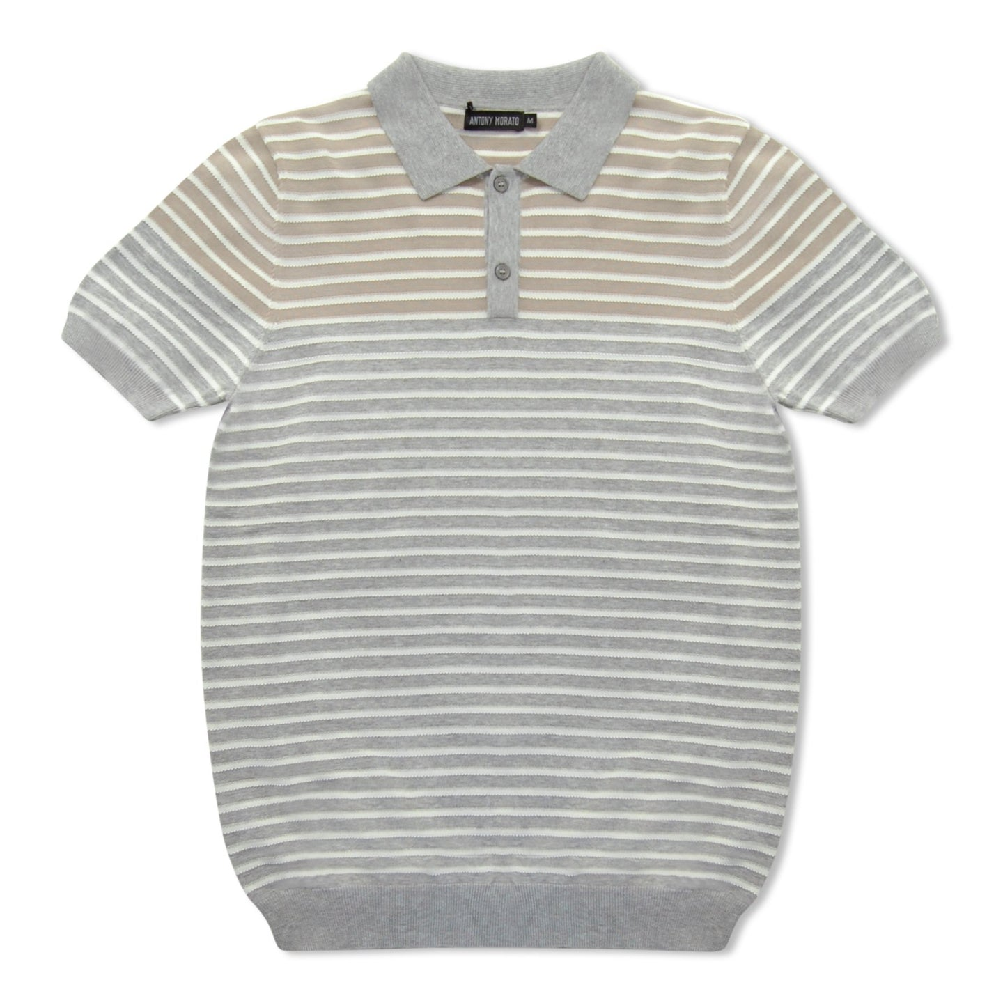 Grey And White Stripe Antony Morato Polo