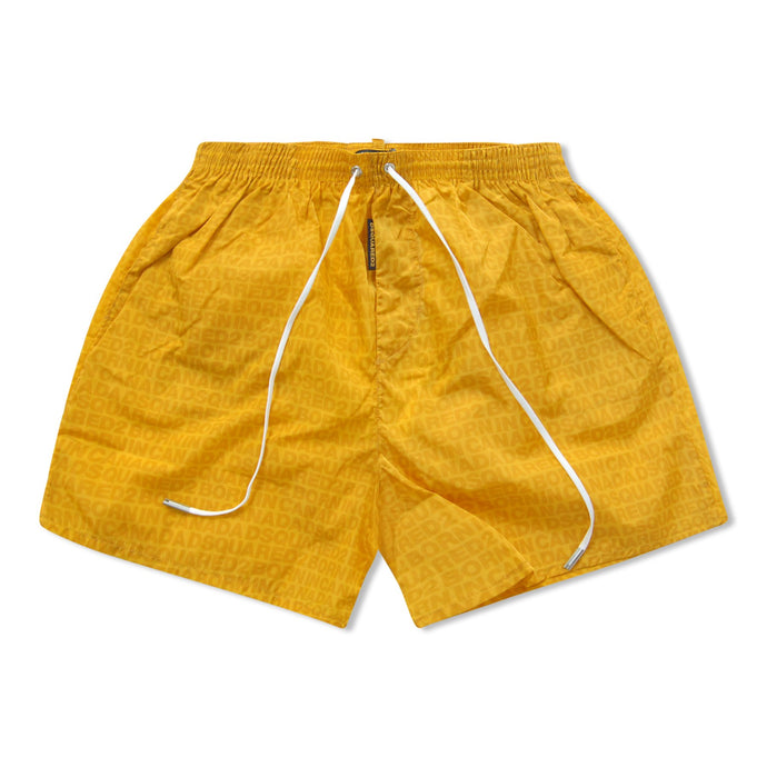 Yellow Dsquared2 Basics Logo Swim Shorts