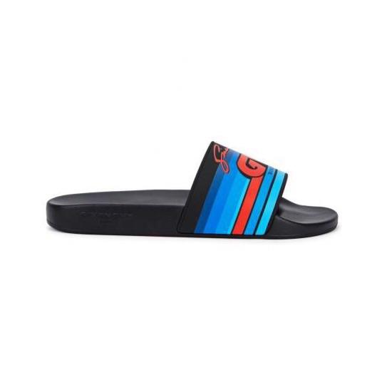 Black Givenchy Stripe Logo Sliders