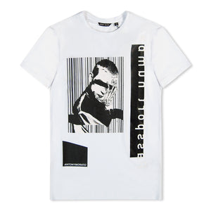 White Antony Morato Face Graphic T-Shirt