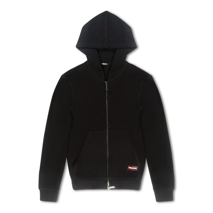 Dsquared2 Zip Through Hoodie - Black