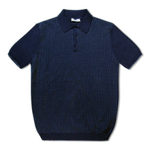 Blue Untitled Atelier Merino Wool Spotted Polo