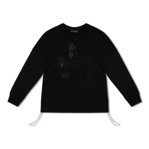 Black Emporio Armani Embroidered Sweatshirt
