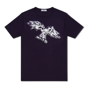Navy Untitled Atelier Eagle Print T-Shirt