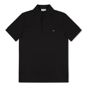 Black Calvin Klein Chest Logo Polo