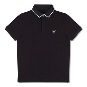 Navy Emporio Armani White Eagle Polo
